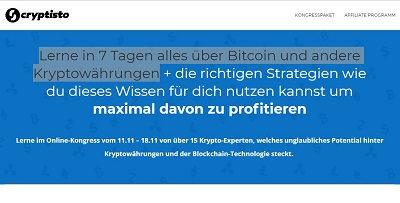 Cryptisto Online-Kongress | Lerne alles über Bitcoin