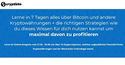 Cryptisto Online-Kongress | Lerne alles über Bitcoin & Co.