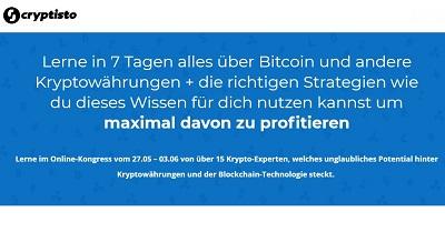 Cryptisto Online-Kongress   Lerne alles über Bitcoin & Co.