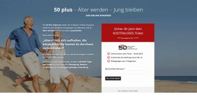 50plus Online-Kongress   Älter werden und jung bleiben