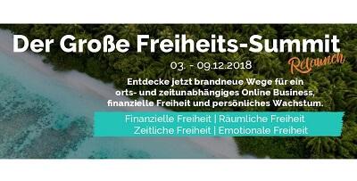 Freiheits-Summit | Räumlich. Zeitlich. Finanziell. Emotional.
