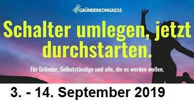 Gründerkongress   Für Selbständige und alle die es werden wollen
