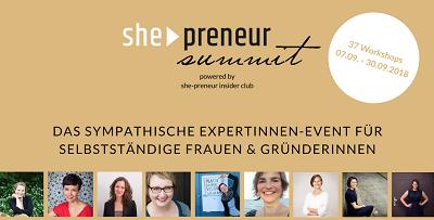 She Preneur Summit   Für Gründerinnen und Selbständige