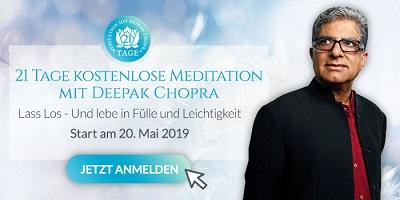 Meditaion mit Deepak Chopra