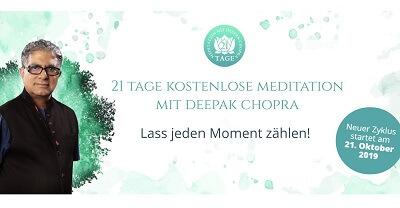 Meditation mit Deepak Chopra | 21 Tage gratis