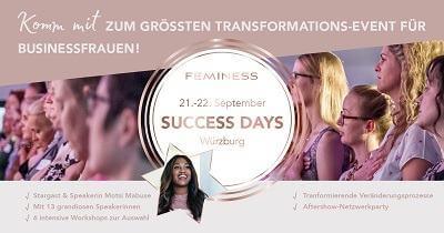 Feminess Success Days | Geheimnisse des weiblichen Erfolgs