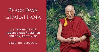 Peace Days mit S. H. Dalai Lama