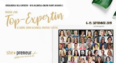 she-preneur Summit | Werde zur Top-Expertin