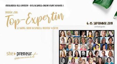 she-preneur Summit   Werde zur Top-Expertin