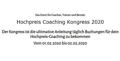 Hochpreis coaching online-kongress