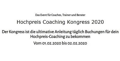 Hochpreis Coaching Online-Kongress