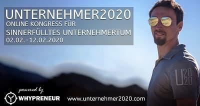 Unternehmer 2020 Online-Kongress | Sinnerfülltes Unternehmertum