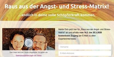 Raus aus der Angst- und Stress-Matrix Online-Kongress