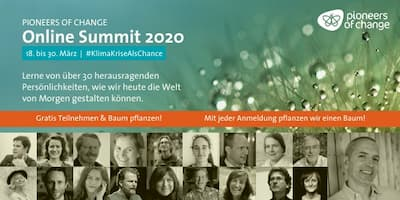 Pioneers of Change Online Summit | Klimakrise als Chance