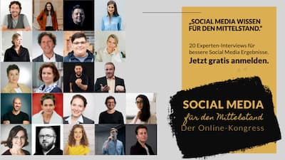 Social Media für den Mittelstand Online-Kongress | Deine Grundausbildung