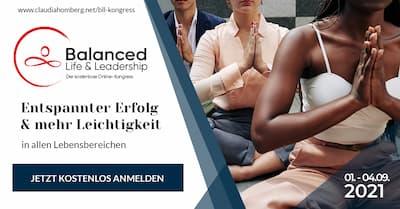 Balanced Life & Leadership Online-Kongress Header