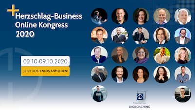 Herzschlag Business Online-Kongress   erfolgreich & stabil gründen