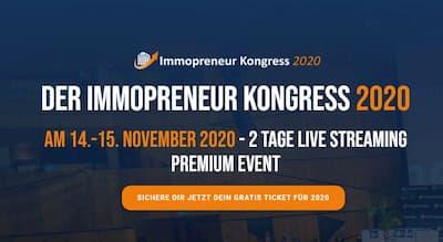 Immopreneur Kongress | Gratis LIVE Streaming