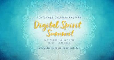 Digital Spirit Summit   Achtsames Onlinemarketing