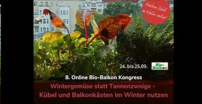 Bio-Balkon Online-Kongress | Jetzt sähen, im Winter ernten