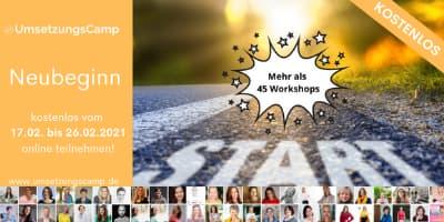 Online Umsetzungs Camp   48 Workshops zum TUN