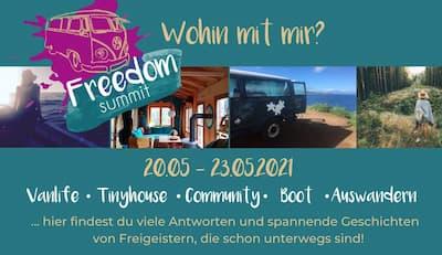 Freedom Summit | Van-Life, Tiny House, Hausboot, Auswandern